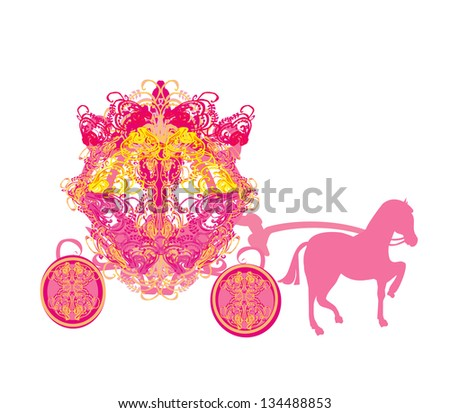 vintage carriage - doodle icon - stock vector