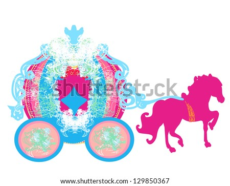 vintage carriage icon - stock vector
