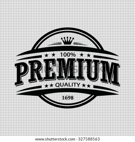 vintage premium quality stamp and elements - stock vector