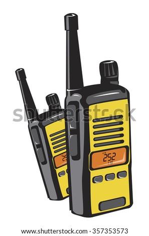 2 way radios - stock vector