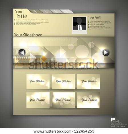 website template - portfolio layout - stock vector