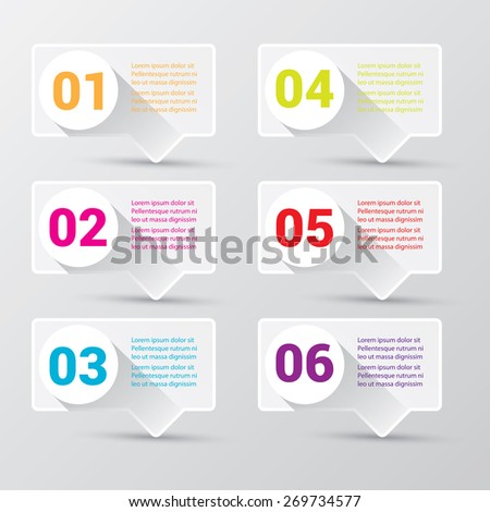 white clean digital illustration Infographic banners. Vector illustration can be used for workflow layout, diagram, number options, web design. - stock vector
