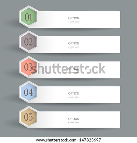White horizontal Design template. Vector website layout - stock vector
