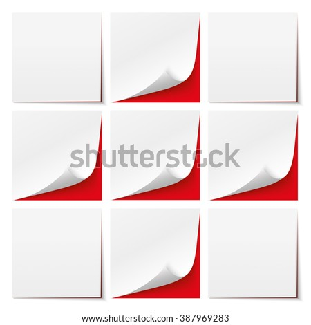 9 white sticks with red background. Eps 10 vector file. - stock vector