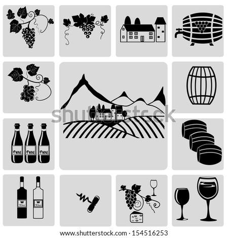 Wine and winemaking - stock vector