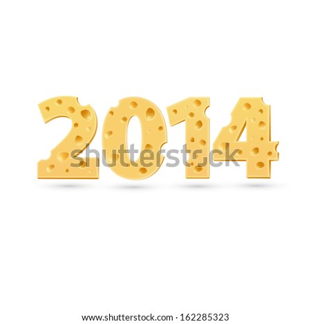 2014 word of cheese. Vector word template - stock vector