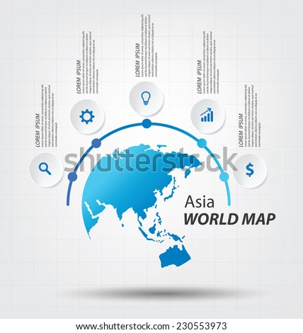 World Map vector Illustration. - stock vector