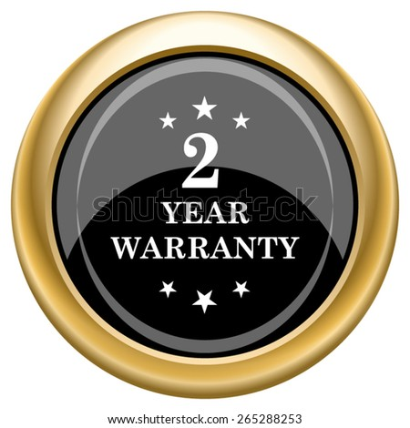 2 year warranty icon. Internet button on white  background. EPS10 Vector.  - stock vector