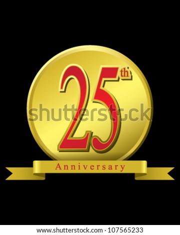 25 years Anniversary - stock vector