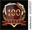 100 years anniversary golden label - stock vector