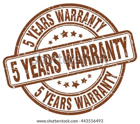 5 years warranty brown grunge round vintage rubber stamp.5 years warranty stamp.5 years warranty round stamp.5 years warranty grunge stamp.5 years warranty.5 years warranty vintage stamp. - stock vector
