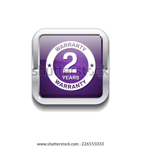 2 Years Warranty Purple Vector Icon Button - stock vector