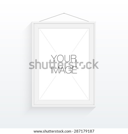 A4 / A3 format frame design for your image or text, minimal abstract eps 10 vector illustration - stock vector