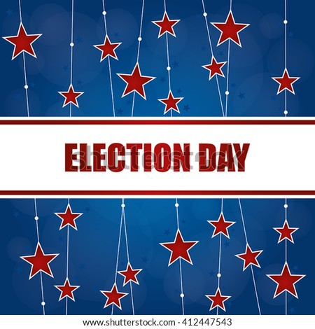 A background design for Election Day with space for text - stock vector