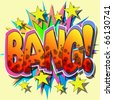 A Bang Comic Book Vector Illustration - stock vector