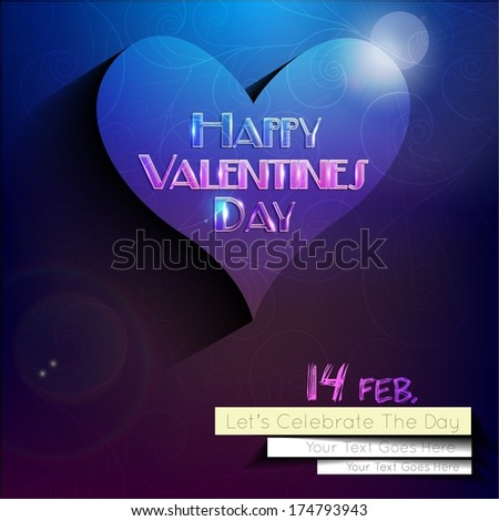 A Beautiful background for the Valentine's Day. vector Illustration. - stock vector