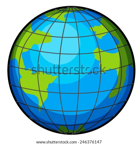 A big globe on a white background - stock vector
