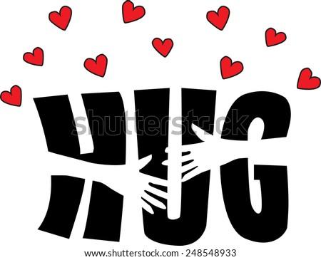 a big hug - stock vector