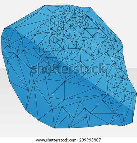 A blue and black line abstract geometric design - stock vector