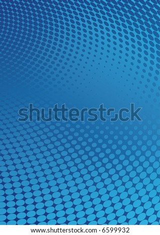 a blue background in halftone style - stock vector