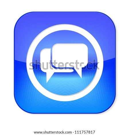 a bubble speech icon on white, eps10 vector - stock vector