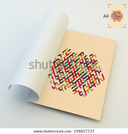 A4 Business Blank. Abstract Vector Illustration. Can Be Used For Advertising, Marketing, Presentation. - stock vector