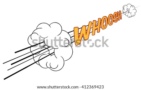 A cartoon comic book sonic boom whoosh fast sound effect design element graphic - stock vector