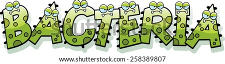Illustration of the text bacteria with a germ theme stock vector