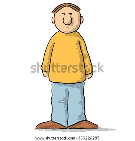 a character with a careful look - stock vector