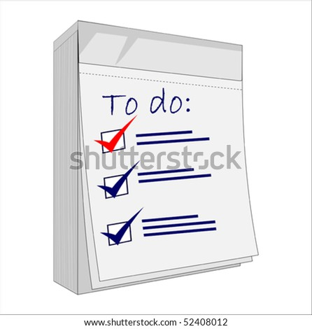 A checklist with all boxes ticked, vector illustration - stock vector