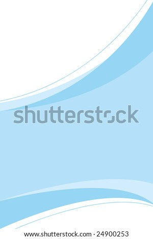 A clean blue corporate design template you can use in any type of piece from ads to page layouts. - stock vector