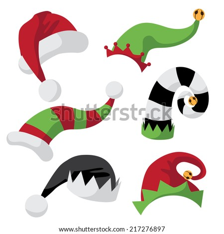 A collection of fun holiday hats  EPS 10 vector - stock vector