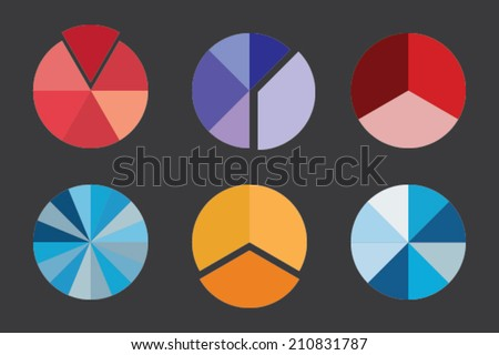 A Colorful Business Pie Chart for Your Documents, Reports and Presentations - stock vector