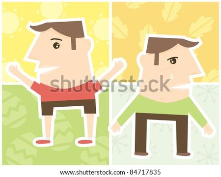 A concept for seasonal affective disorder. - stock vector