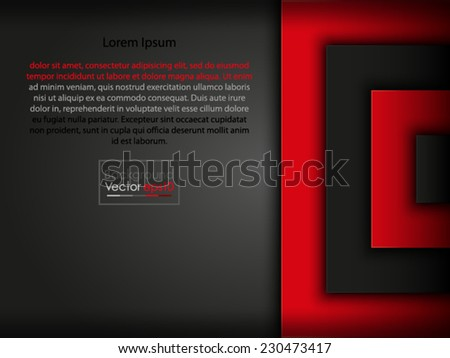 A cool vector abstract background wallpaper backdrop template text greeting card overlap - stock vector