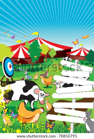 a country fair background - stock vector