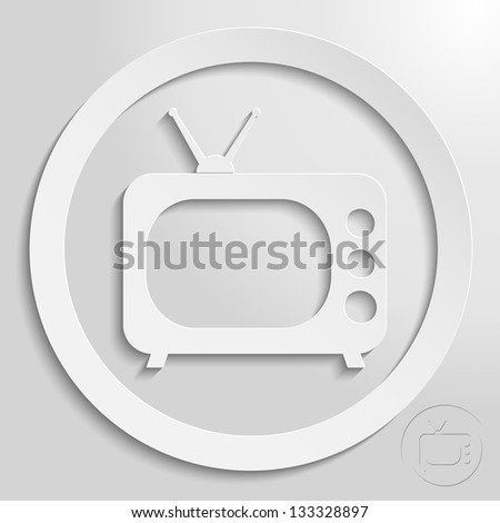 a creative icon in bright style, eps10 vector - stock vector