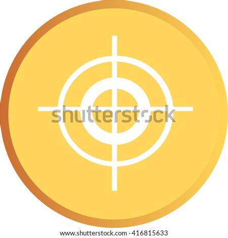 a crosshair icon - stock vector