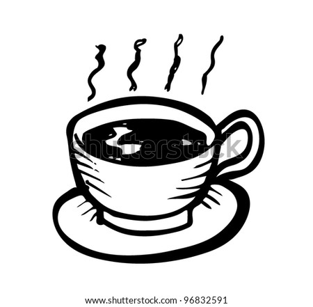 a cup of coffe - stock vector