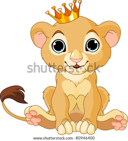 A cute character lion king cub - stock vector