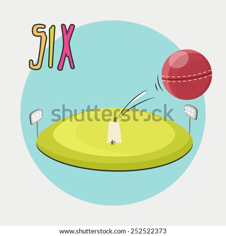 A cute illustration for a six. - stock vector