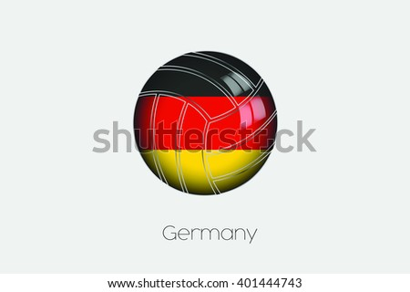A 3D Football with a Flag Illustration of Germany - stock vector