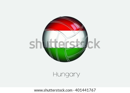 A 3D Football with a Flag Illustration of Hungary - stock vector
