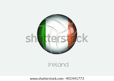 A 3D Football with a Flag Illustration of Ireland - stock vector