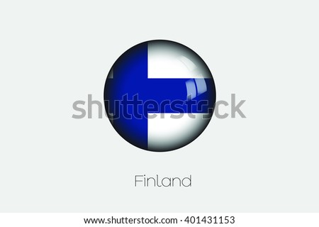 A 3D Orb with a Flag Illustration of Finland - stock vector