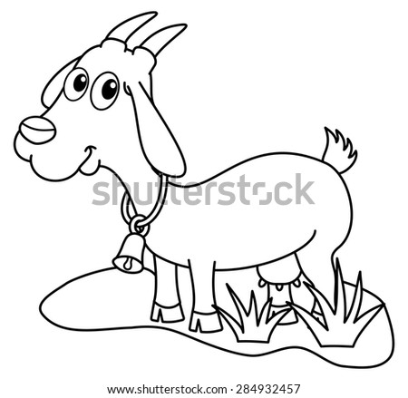 Dairy Goat Coloring Pages | freecoloring4u.com