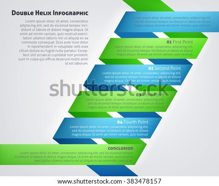 A DNA Double Helix Infographic medical or scientific concept - stock vector