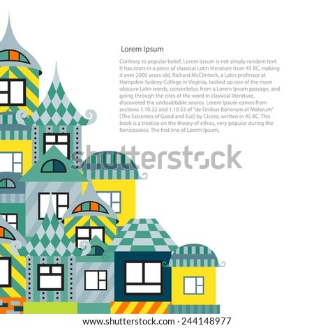 A fantastic collection or decorative house. The design of the pages, catalogs or brochures. - stock vector