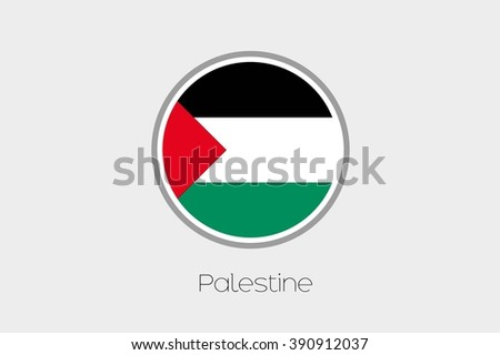 A Flag Illustration of the country of Palestine - stock vector