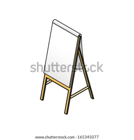 A flip board with a blank pad ready for writing on. - stock vector